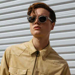 Dom Vetro Primo sunglasses, $375, in tobacco tortoise acetate with detachable secondary clip-on lenses