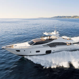 The Ferretti 870, €4.6m, a scaled-back 87ft flybridge motor yacht, launched at the 2012 Cannes Boat Show