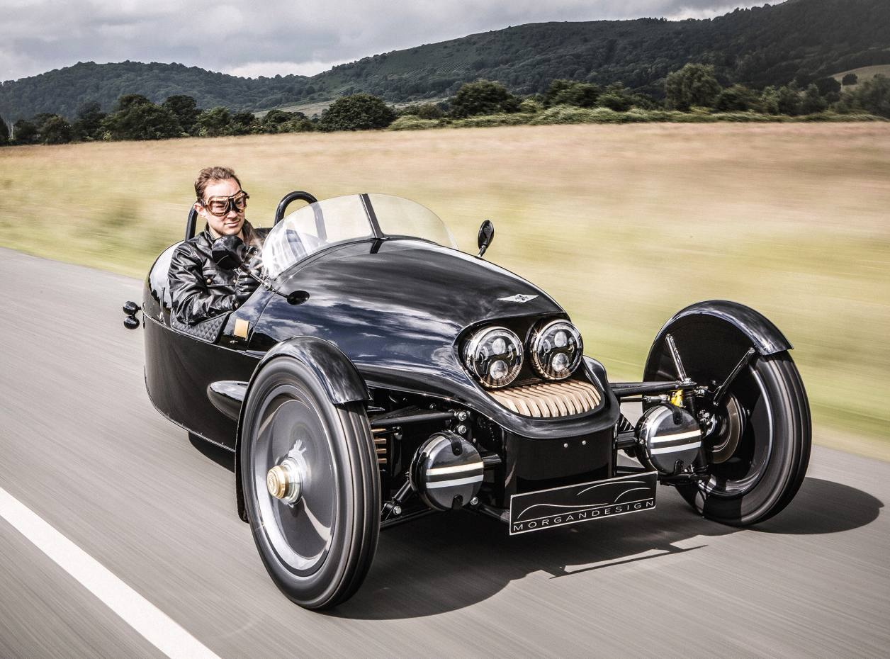 Morgan head of design Jon Wells out in the EV3 UK 1909 Edition