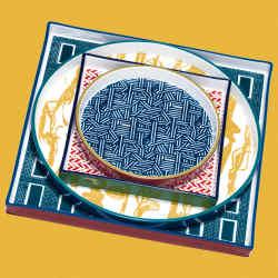 Hermès porcelain platters, from £260