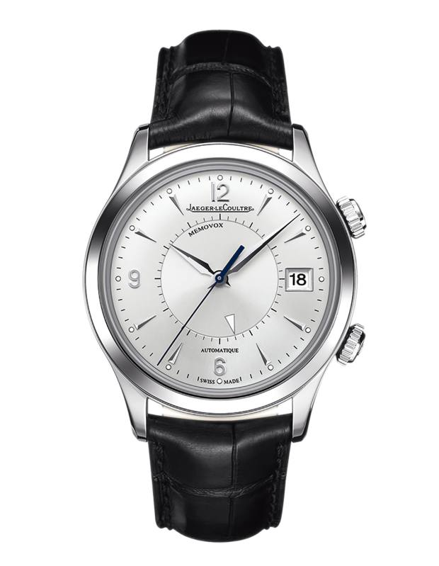 Jaeger-LeCoultre stainless-steel Master Memovox with alligator strap, £7,250