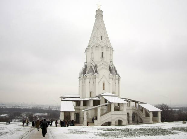 The Church of the Ascension of the Lord in Kolomenskoye Park Museum, Moscow.