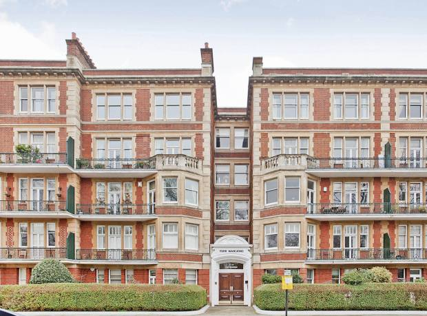 York Mansions in Prince of Wales Drive, where Douglas & Gordon is offering a three-bedroom flat for £1.495m