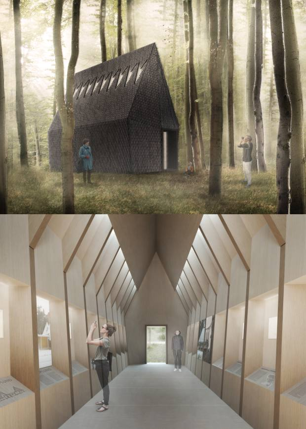 MAP Studio's Vatican exhibit is this timber Asplund Pavilion inspired by Nordic huts. MAP Studio's Asplund Pavilion will display a series of drawings by 20th-century Swedish architect Gunnar Asplund