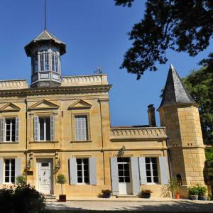 St Emilion château and vineyard.