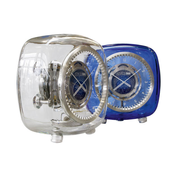 Jaeger-LeCoultre Baccarat crystal Atmos 566 clocks by Marc Newson, £81,000 each.