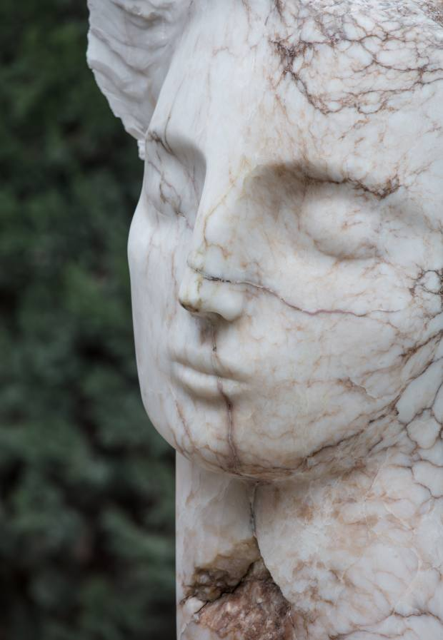 Contemplative Head, made of Spanish alabaster