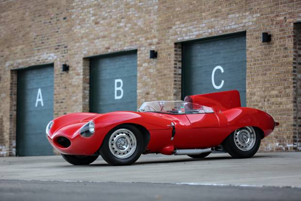 Gooding & Co will be selling this 1956 D-Type Jaguar, which was owned by Peter Blond and is expected to realise $10m-$12m