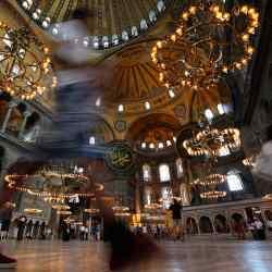 Inside the Byzantine Hagia Sophia museum
