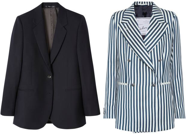From left: Paul Smith wool A Suit To Travel blazer, £495. Giuliva Heritage Collection wool Stella blazer, £1,526