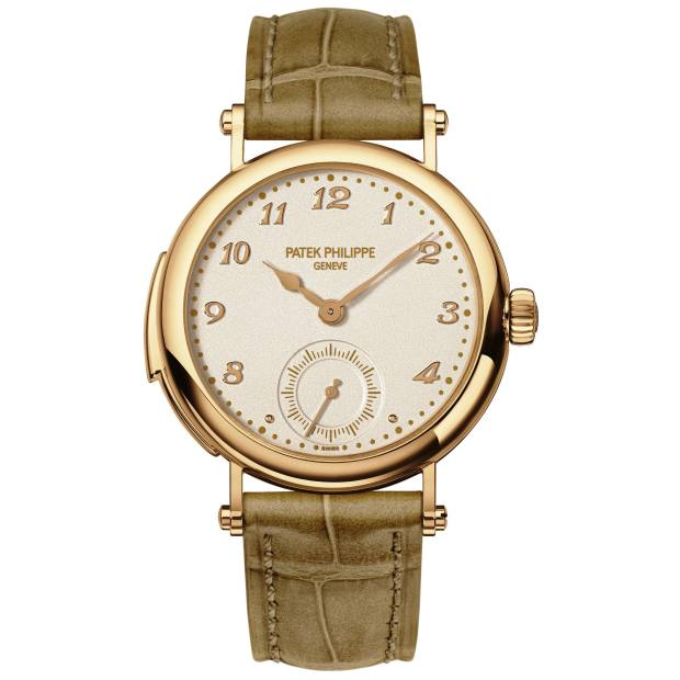 Patek Philippe rose gold Ladies First minute repeater on alligator strap, about £270,000