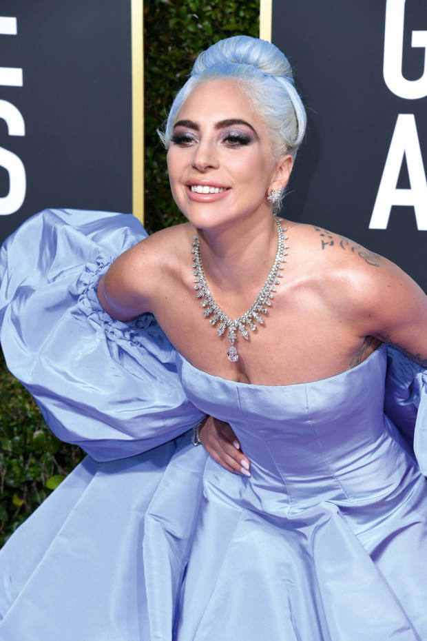 Lady Gaga in Valentino at January's Golden Globes