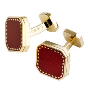 Cartier cuff links in yellow gold with lacquer finish, £3,400