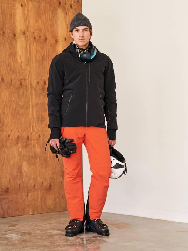 Aztech Mountain stretch-nylon Capitol Peak jacket, $1,300, and stretch-nylon ski pants, $725