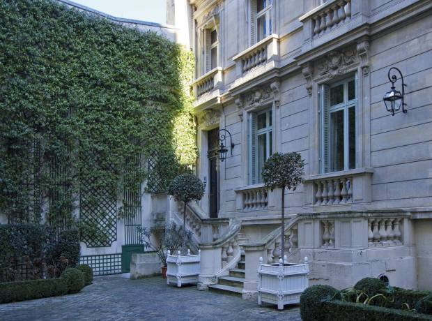 The exterior of the 1880s mansion on the market for €8.7m with Propriétés Parisiennes.