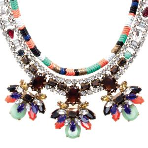 J Crew Stone Burst necklace in brass, glass, resin and gold plate, £165