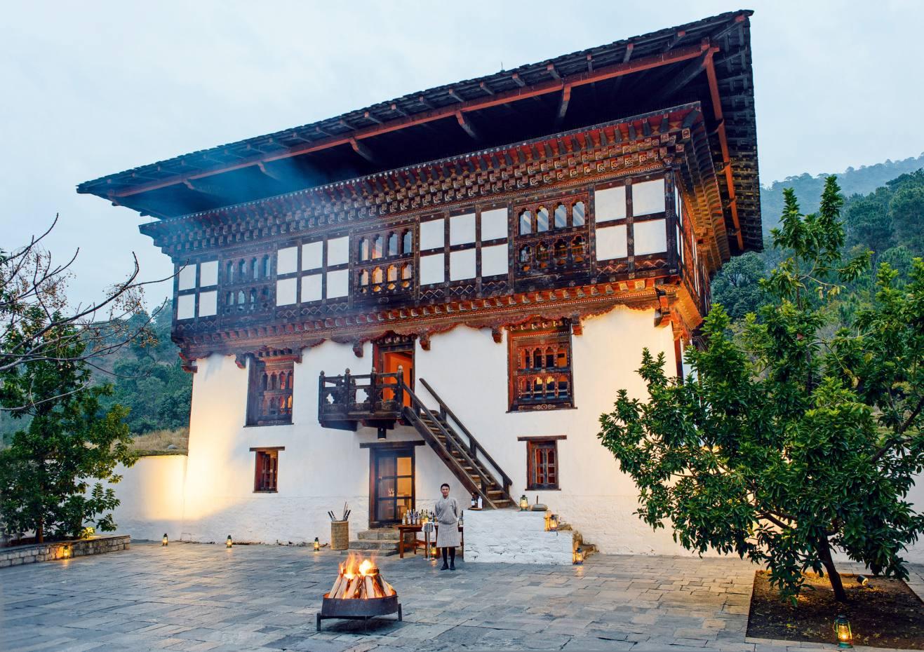 A restored farmhouse is attheheart of AmankoraPunakha Lodge in Bhutan