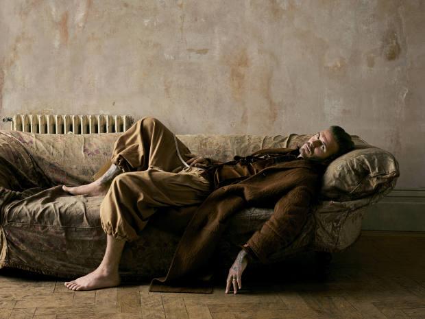 Joseph alpaca coat, £695. Etro silk velvet blazer (justseen), £1,654. Kolorcotton shirt, £375. VivienneWestwood cottontrousers, £420
