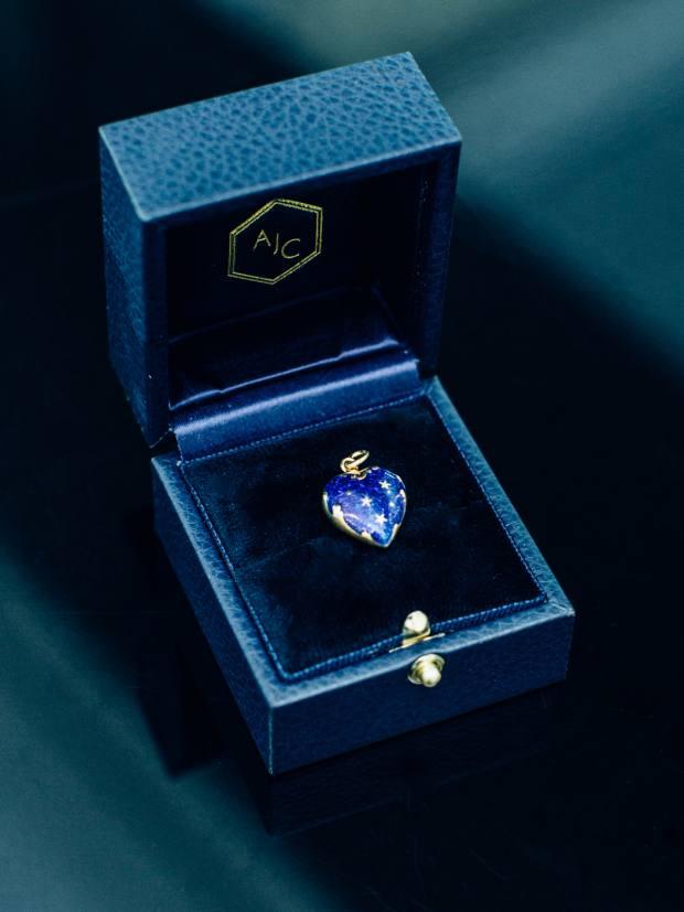 Her Fabergé pendant