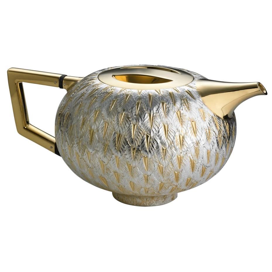 Take Voliere teapot, 9cm high, by Bodo Sperlein in sterling silver and gold vermeil, £3,899