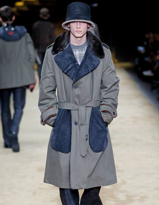 Fendi cotton, shearling and nutria fur trench, £3,000
