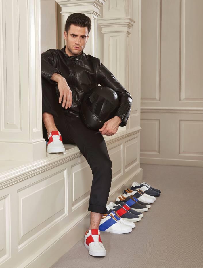 Harrys of London leather Bolt sneakers, £395