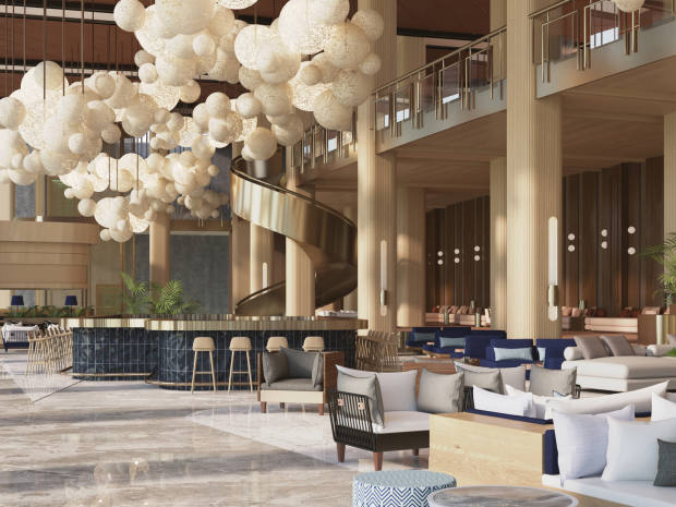 Rendering of the hotel's concept bars and à la carte restaurants that will cater to your every need