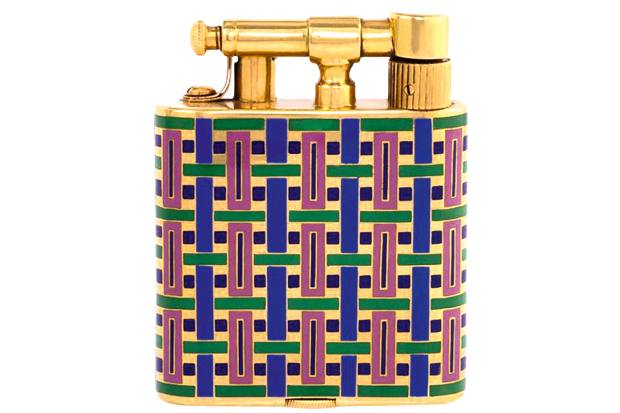 c1925 enamel and gold lighter, £7,900, from 1stdibs