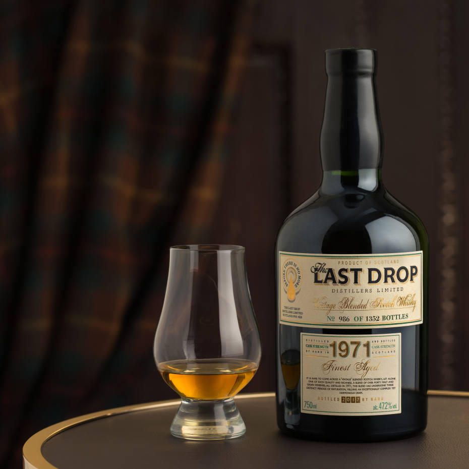 Last Drop 1971 Vintage Blended Scotch Whisky costs £3,000 and is available in a limited edition of 1,352 bottles
