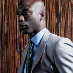 Ozwald Boateng at his 30 Savile Row flagship in London.