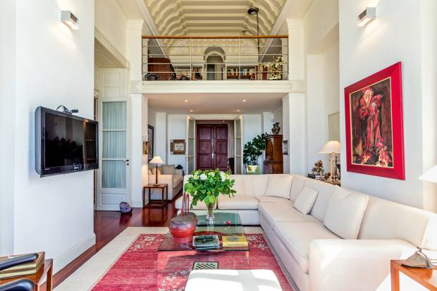 A renovated five-bedroom belle époqueapartment inthe heart of Biarritz, €2.35m through Barnes International Realty.