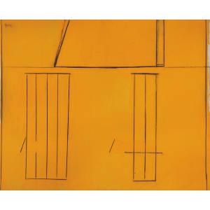 Robert Motherwell in his Provincetown, Massachusetts studio in 1969