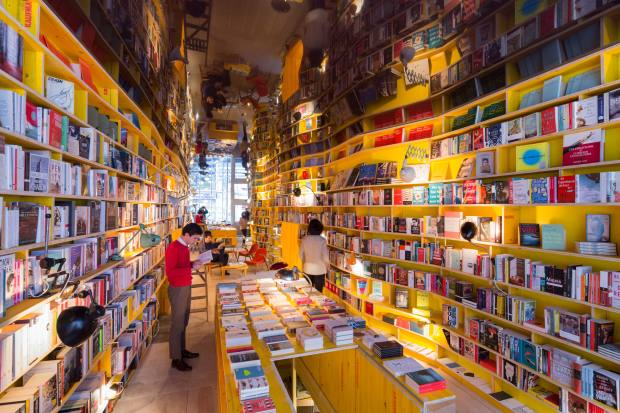 Libreria has constantly changing sections with frequently offbeat themes
