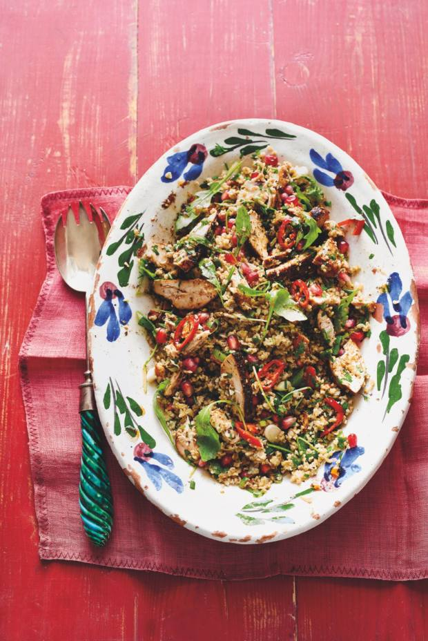 The main is the za'atar chicken with freekeh tabbouleh
