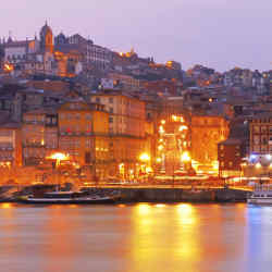 Porto rising up from the banks of the River Douro.