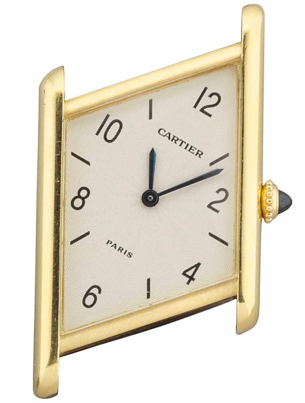The auction includes a number of watches, such as this classic Cartier Tank design, £2,000-£3,000