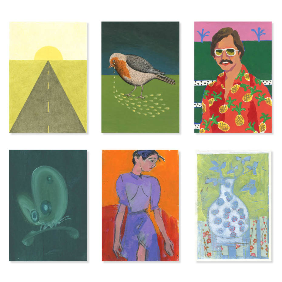 Some 600 postcards byover 250 international artists will be auctioned this year