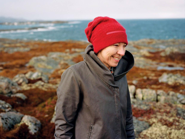 Zita Cobb on the coast of Fogo Island, Canada