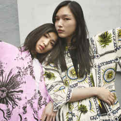 The Fausto Puglisi-designed kimonos for Yoox are made in Japan