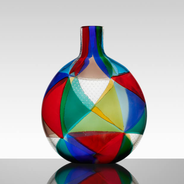 Intarsio vase by Ercole Barovier for Barovier & Toso (1962), $30,000-$40,000