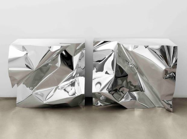 Fredrikson Stallard stainless steel Hudson console, £84,000 for a pair