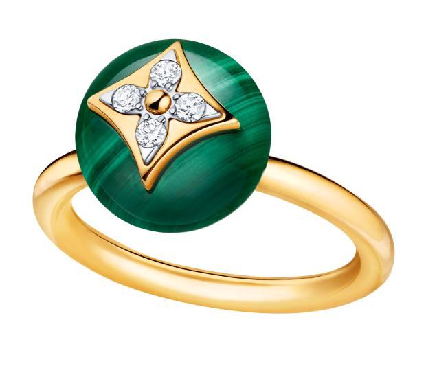 Louis Vuitton gold, diamond and malachite ring, £2,680