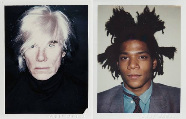 Warhol and Basquiat's self-portrait Polaroids