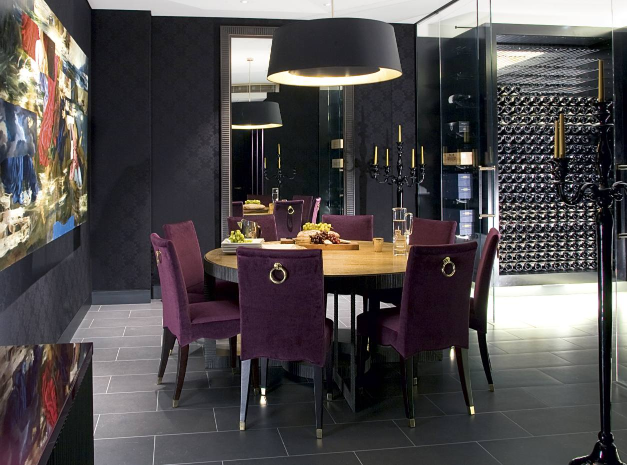 This private dining room in Belgravia by Taylor Howes was designed around  the homeowner s wine collection 27a65ac080abe