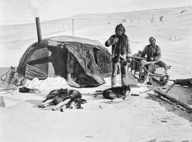 Part of the camp on Roald Amundsen's Arctic expedition
