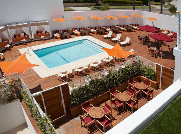 The pool at Mr C Beverly Hills.