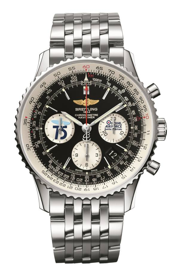 Breitling Navitimer Battle of Britain watch, £7,490; 10 per cent of the proceeds will go to RAFBF (www.rafbf.org). www.breitling.com