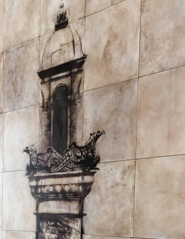 Gosling 8m-high vellum wall panel