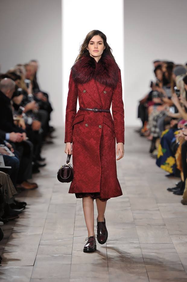 Michael Kors Collection damask jacquard and fox-fur coat, £3,460