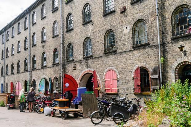 The autonomous neighbourhood of Christiania was established in aformer military base